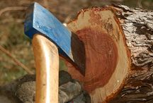 How to sharp a damaged axe