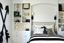 Bedroom Ideas- Black, White, Gold