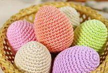 Wielkanoc EASTER / Wielkanocne dekoracje na szydełku