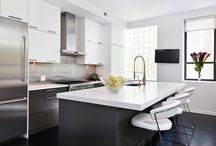 Chestnut Rehabbed, Contemporary Kitchen + Bath / A completely rehabbed, contemporary kitchen in a condo built in the 1930's.