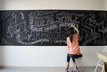 Chalk Art + Type