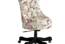 Lavender Elle Tufted Desk Chair
