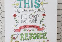 Scripture & Faith / Inspiring and fun prints on faith and scripture.