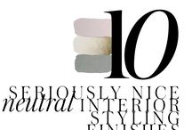 10 NEUTRAL STYLING FINISHES