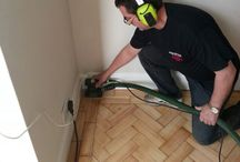 Sanding & Sealing A Dining Room / Client: Private Residence in North-West London Brief: To Sand and Seal the living area floor.