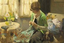 ☆women crafting or householding☆.