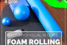 exercises foam roller & roller stick