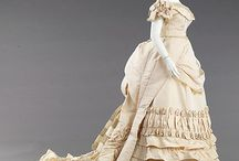 1870s ball gown
