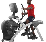Cybex Arc Trainer / Cybex's line of cross trainers, The Arc Trainer, is scientifically tested to be gentler on your joints, burn 16% more calories than an elliptical, and is stronger and more durable than the leading ellipticals.
