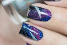 Nail art, galaxy