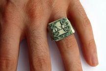 Výroba prstýnku z papírových bankovek