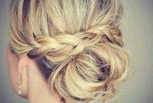 Bridesmaid hair/dress, wedding stuff