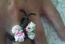 * élastiques ..* / bracelets ,bagues ,objets fait par mes 10 doigts .. tuto you tube