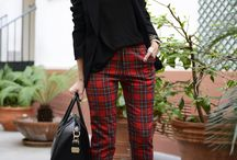 HOW TO WEAR PLAID/ TARTAN / Check the all the amazing ways you can wear wear plaid or tartan fabric. From scarfs to pants to shirts.  / by My curves and curls