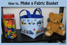 Fabric Baskets / by Pam ~ Threading My Way