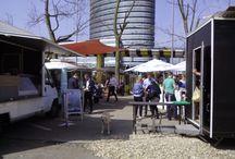 Hier ein paar Bilder aus dem YARD / Foodtruckyard in Düsseldorf am Vodafonetower