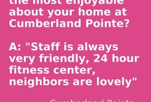 What Our Residents Say... / Our resident's love living at Cumberland Pointe. Here are just a few of the reasons why: