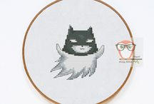 Halloween Cross Stitch Patterns / Vintage and Modern Halloween Cross Stitch Patterns: ghosts, witches, pumpkins, samplers and others.  Primitive Cross Stitch Embroidery for beginners and advanced stitchers.