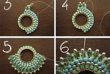 Beaded stitched earing