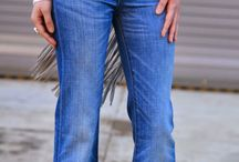 High waisted jeans boothcut