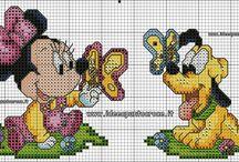 Baby Disney-Ponto Cruz, Moldes, Feltro...