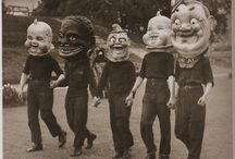 Vintage puppets, masks, costumes