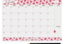 calendario mes sandía