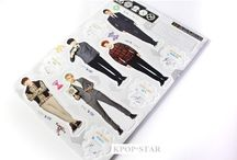 Korean Pop Star Standing Paper Doll