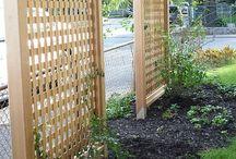 Garden fences trellis and screening