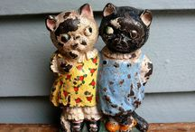 Vintage Door Stops & Book-Ends / a Celebration of Kitsch / by Rhonda Doherty