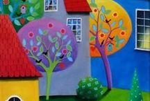 Quadros coloridos