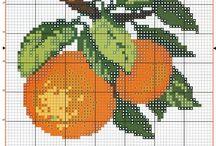 frutas en punto de cruz