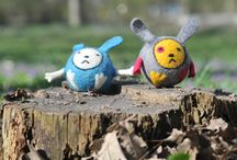 Felt balls - toy animals (колобки) / Handmade from 100% wool. A properly chosen doll has positive effect on the psyche of the children, develops their tactile sensitivity, forms the concept of right and wrong, good and bad, and promotes the development of human emotions and morality.