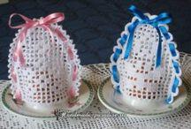 Horgolt húsvéti díszek
