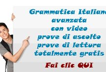 GrammaticaItaliana.net / Grammatica italiana avanzata con prove di ascolto e prove di scrittura