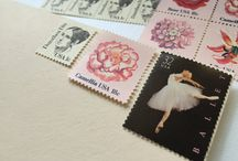 Vintage Postage Stamps / A collection of Vintage Postage Stamps for special messages, announcements, wedding invitations, and so much more!