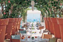 open air restaurant garden