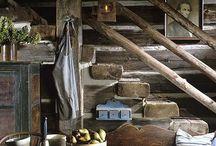 Wood chinking walls / by Krista Morris