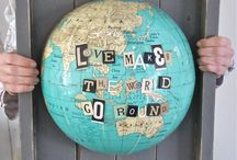 Old globes / DIY  / by Beth Garza