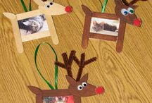 christmas craft picture frame for kids