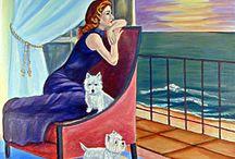 West Highland Terrier Art by Lyn