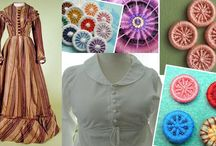 Fabric Buttons / This page includes examples of antique, Victorian, and vintage fabric buttons, pad shanks, thread backs, embroidered buttons, Dorset buttons, etc.