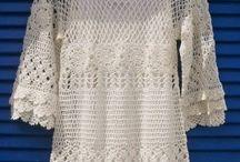#Crochet Clothes (Tops/Dresses/Bodices/Short...)  #Crochê (Roupas)  / by ROSIMMARY