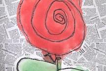 disegno i fiori / Idee per disegnare o costruire fiori.