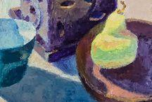 My Impressionist Still Life Paintings / Impressionist Plein Air Still Life paintings by Srishti Wilhelm.