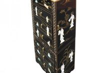 Chinese Furniture  by Asia Dragon / Black Lacquer Mother of Pearl Furniture ~ Ornately Decorated with Gold Leaf and Mother of Pearl designs from the ancient dynasties of China.  Available for customers to buy in the UK and EU from stock located in England. Visit our website at www.asiadragon.co.uk