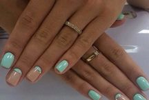 Короткие квадратные ногти