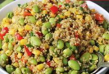 Quino salades / Nice and healthy saladrecipies