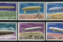Zeppelins Stamps / Stamps with topic Zeppelins