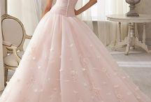 Vestidos de color rosa